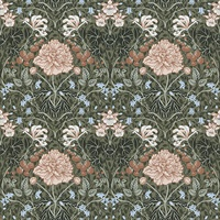 Celestine Green Floral Wallpaper