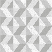 Cerium Grey Concrete Geometric Wallpaper
