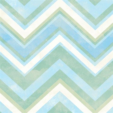 Tot47291 Blue Green And White Chevron Striped Wallpaper Wallpaperupdate Com