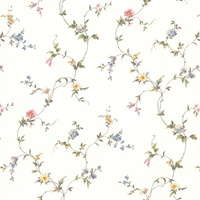 Christine White Floral Trail Wallpaper