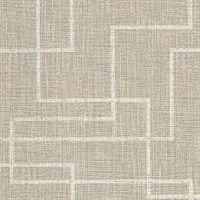 Clarendon Brown Faux Grasscloth Wallpaper