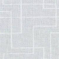 Clarendon Sky Blue Geometric Faux Grasscloth Wallpaper
