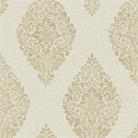 Clemente Light Grey Foil Feather Wallpaper