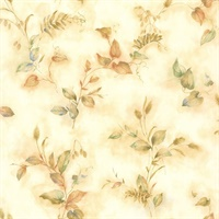 Congedi Gold Leaf Sprigs Wallpaper