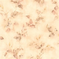 Congedi Peach Leaf Sprigs Wallpaper