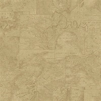 Conrad Beige Map Wallpaper