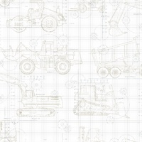 Construction Blueprint Wallpaper