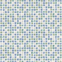 Corfu Aqua Tiles Wallpaper