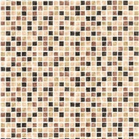 Corfu Brown Tiles Wallpaper