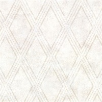 Dartmouth Cream Faux Plaster Geometric Wallpaper