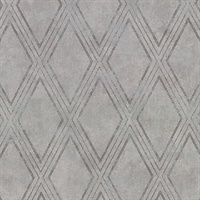 Dartmouth Grey Faux Plaster Geometric Wallpaper