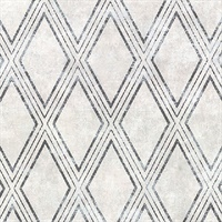 Dartmouth Light Grey Faux Plaster Geometric Wallpaper