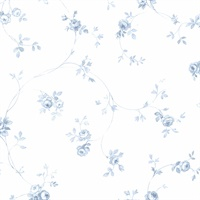 Delft Rose Wallpaper