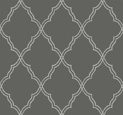 Cx1227 Candice Olson Dimensional Surfaces Lattice Dark Grey And Light Grey Harlequin Wallpaper