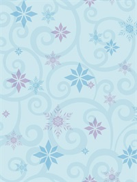Disney Frozen Snowflake Scroll Wallpaper
