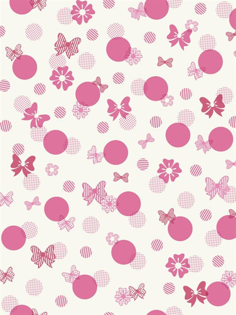 Dy0180 Disney Minnie Mouse Bows Amp Dots Wallpaper