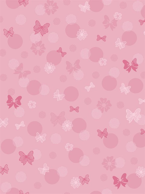 Dy0178 Disney Minnie Mouse Bows Amp Dots Wallpaper