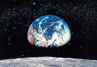 Earth/Moon - Wall Mural