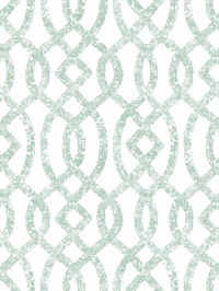 Ethereal Sea Green Trellis Wallpaper
