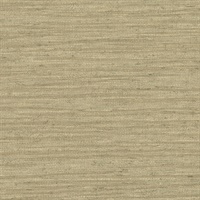 Everest Khaki Faux Grasscloth Wallpaper