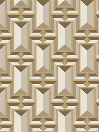 Ashford House Facet Geo Wallpaper - Gold
