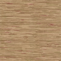 Faraji Light Brown Faux Grasscloth Wallpaper