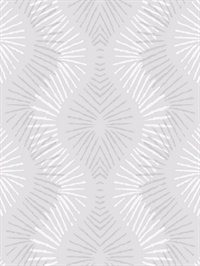 Feliz Silver Beaded Ogee Wallpaper