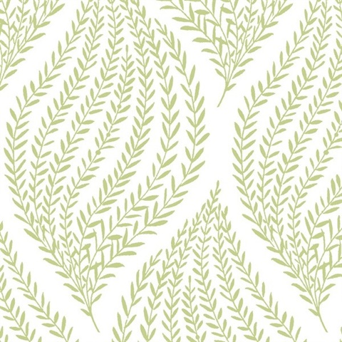 Nu1688 Fern Lime Green Peel And Stick Wallcovering By Brewster At Wallpaper Update