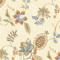 Jacobean Floral Wallpaper