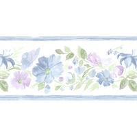 Fluted Floral Wallpaper Border