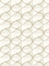 Ashford House Frances Wallpaper - Gold