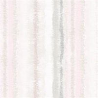 Frequency Stripe Wallpaper in Grey, Pink & Beige