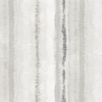 Frequency Stripe Wallpaper in shades of Grey