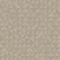 Gallerie Beige Geometric Wood Wallpaper