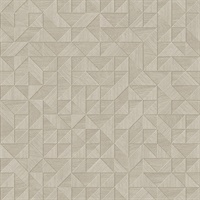 Gallerie Cream Geometric Wood Wallpaper