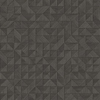 Gallerie Dark Brown Geometric Wood Wallpaper