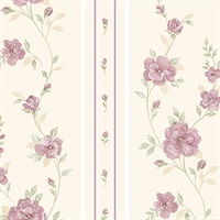In Register Rose Stripe Wallpaper
