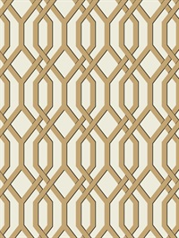 Ashford House Garden Pergola Wallpaper - Gold
