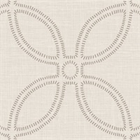 Geometric Grasscloth Look Glitter Wallpape