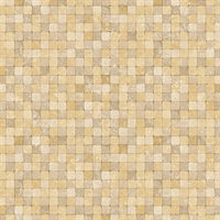 Golden Textured Tiles Wallpaper