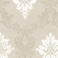 In-register Silk Damask Wallpaper