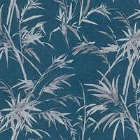 Hali Blue Fronds Wallpaper