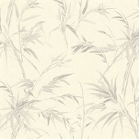 Hali Light Grey Fronds Wallpaper