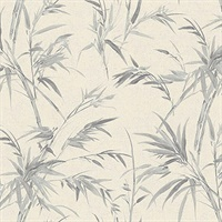 Hali Silver Fronds Wallpaper
