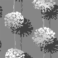 Hamsun Grey Dandelion Wallpaper