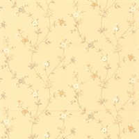 Hana Beige Daisy Trail Wallpaper