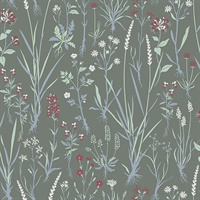 Harald Dark Green Botanical Wallpaper