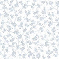 Henrik Light Blue Floral Wallpaper