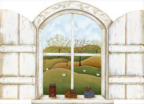 Homestead Window - Wall Mural