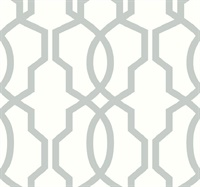 Hourglass Trellis Wallpaper